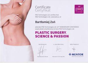 szkolenia powiększania piersi implantami dr Zoń